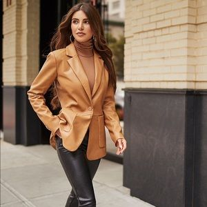 Express Negin Mirsalehi Leather Blazer w/ Pockets